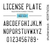 license plate  1   typeface... | Shutterstock .eps vector #403976536