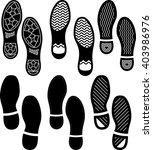 imprint soles shoes  shoe print ... | Shutterstock .eps vector #403986976