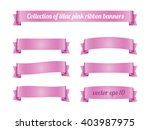 set of lilac pink ribbon... | Shutterstock .eps vector #403987975
