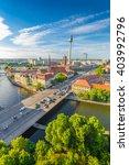 Aerial Vertical View Of Berlin...