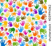 Hands Pattern Illustration...