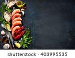 shellfish plate of crustacean... | Shutterstock . vector #403995535