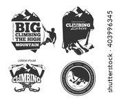 vintage mountain climbing... | Shutterstock .eps vector #403996345