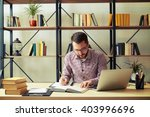 attractive young businessman... | Shutterstock . vector #403996696