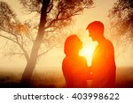 couple in love on the... | Shutterstock . vector #403998622