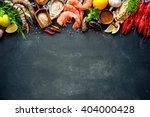 shellfish plate of crustacean... | Shutterstock . vector #404000428