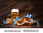 original bavarian pretzels with ...   Shutterstock . vector #404000455