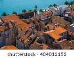 aerial view of split in the... | Shutterstock . vector #404012152