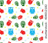 colorful funny seamless pattern ... | Shutterstock .eps vector #404012182