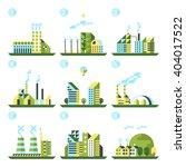 industrial building factory set.... | Shutterstock .eps vector #404017522