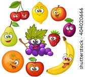 cartoon fruit characters. fruit ... | Shutterstock .eps vector #404020666
