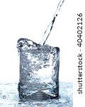 water jet in glass | Shutterstock . vector #40402126