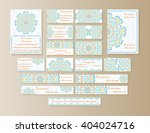 a large set of printed... | Shutterstock .eps vector #404024716