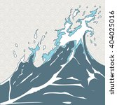wave in japanese style vector... | Shutterstock .eps vector #404025016
