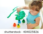 cute little toddler child... | Shutterstock . vector #404025826