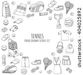 hand drawn doodle tennis game... | Shutterstock .eps vector #404025892