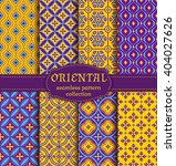 eastern seamless patterns. set... | Shutterstock .eps vector #404027626