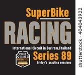 racing super biker thailand... | Shutterstock .eps vector #404043922