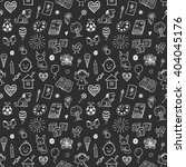 seamless pattern with doodle...   Shutterstock .eps vector #404045176