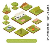 set of isometric camping icons | Shutterstock .eps vector #404051356