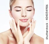 closeup portrait of sexy... | Shutterstock . vector #404054986