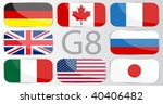 flags of countries member of... | Shutterstock .eps vector #40406482
