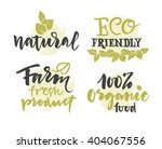 vector natural organic food... | Shutterstock .eps vector #404067556