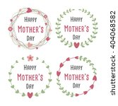 happy mothers day with flowers... | Shutterstock .eps vector #404068582