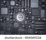 processor  microchip ...   Shutterstock . vector #404069236