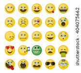 emoji  emoticons vector icons... | Shutterstock .eps vector #404075662
