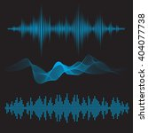 equalizer sound waves icon... | Shutterstock .eps vector #404077738