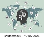 internet of things and thinking ... | Shutterstock .eps vector #404079028