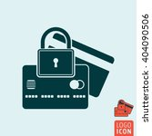 padlock with credit card icon....