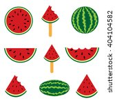 fresh watermelon. collection of ... | Shutterstock .eps vector #404104582