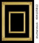 the antique gold frame on the... | Shutterstock . vector #404105812