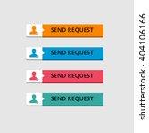 3d send request button set with ...   Shutterstock .eps vector #404106166