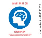 head with brain vector icon.... | Shutterstock .eps vector #404111392