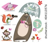 cartoon cute animals | Shutterstock .eps vector #404113576