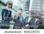 group of business people... | Shutterstock . vector #404125072