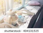 the light from the window on...   Shutterstock . vector #404131525