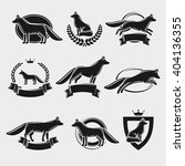 fox label and icons set. vector | Shutterstock .eps vector #404136355