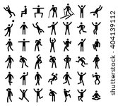 man excercise icon set vector  | Shutterstock .eps vector #404139112
