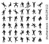 man excercise icon set vector  | Shutterstock .eps vector #404139112