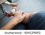 man scratch the itch with hand | Shutterstock . vector #404139892
