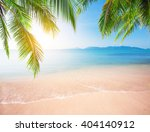 palm and tropical beach | Shutterstock . vector #404140912