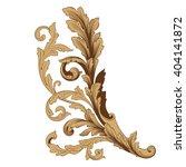 vintage baroque frame scroll... | Shutterstock .eps vector #404141872