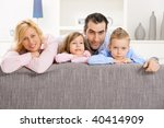 happy family posing together... | Shutterstock . vector #40414909