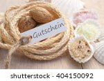 label with german text  gift... | Shutterstock . vector #404150092