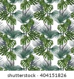seamless pattern with exotic... | Shutterstock .eps vector #404151826