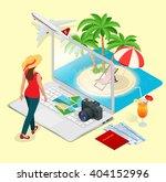 summer vacation concept. online ... | Shutterstock .eps vector #404152996